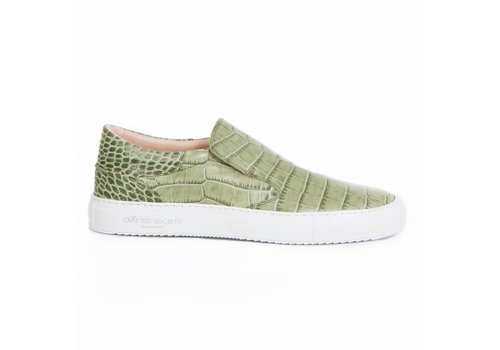 Como Slip-on Army Green croc-effect