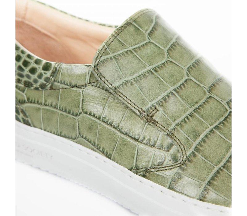 Como Slip-on Army Green croc-effect