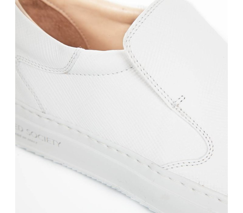 Como Slip-on White Safiano