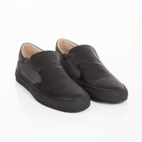 NEW Como Slip-on canvas/safiano - Grey/Black