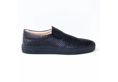 Como Slip-on black Python effect