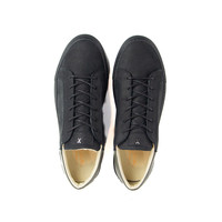 NEW Mario Low refined -  Black Nubuck w/ Military Green