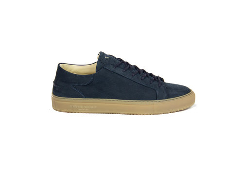 NEW Mario Low refined - Navy Nubuck  with gum rubber