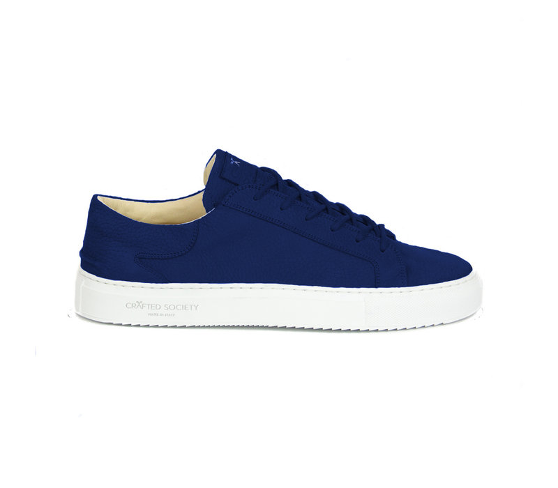 Mario Low refined - Royal blue nubuck white outsole
