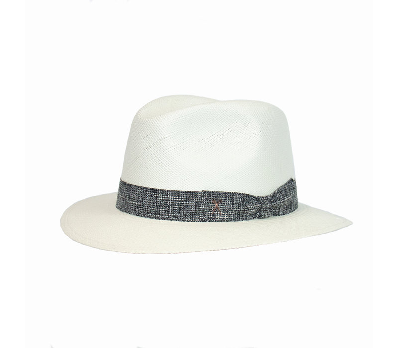 Panama Hat  - Black melange band