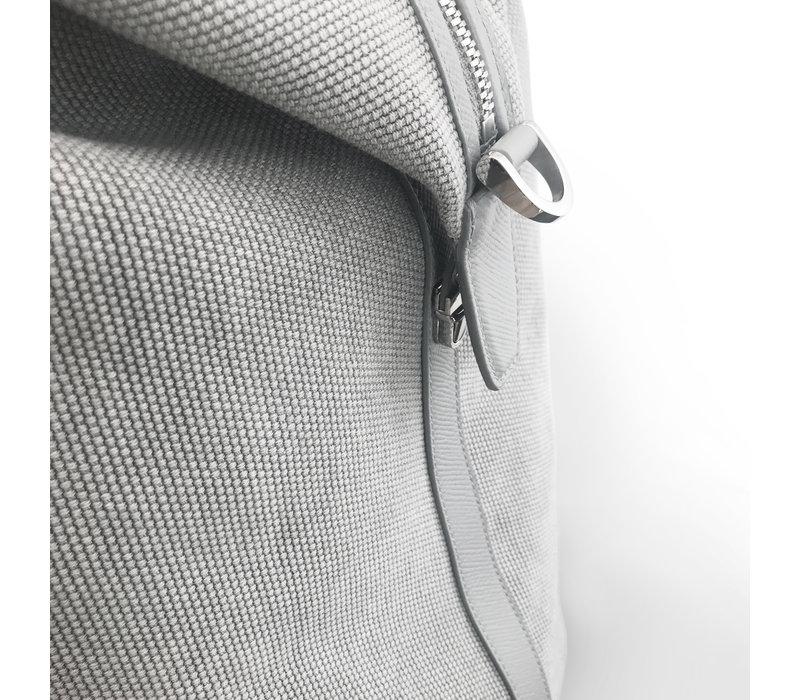 """""""Mini"""" Nando Weekender  - Grey canvas grey safiano"""