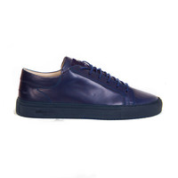 Mario Low refined - navy full grain with navy outsole