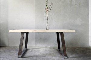 FraaiBerlin Esstisch aus Bauholz & Eisen Nova 200x100cm