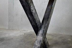 FraaiBerlin Esstisch aus Bauholz & Eisen Ingmar 240 x 100 cm
