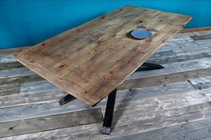 FraaiBerlin Industrial Tisch aus Bauholz Britta 180 x 95 cm