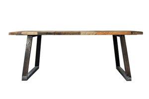 FraaiBerlin Esstisch aus Bauholz & Eisen Lidet 180x90cm