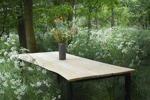 FraaiBerlin Esstisch aus Birkenholz & Eisen Laura 200x100cm