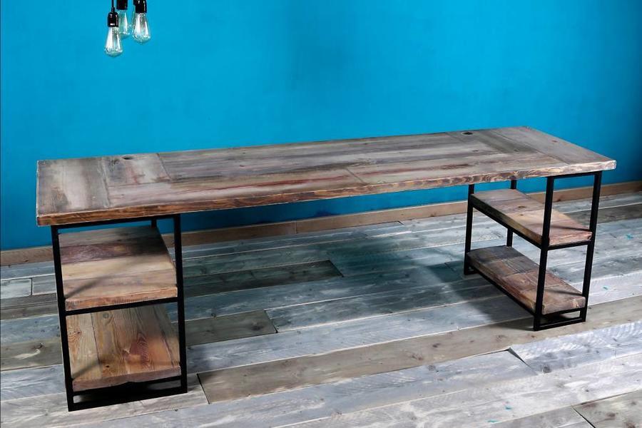 FraaiBerlin Schreibtisch aus Bauholz Siara