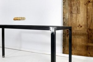 FraaiBerlin Esstisch aus Bauholz & Eisen Meila 170 x 80 cm