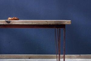 FraaiBerlin Esstisch Hairpin Kupferfarbe, Corinne 200x100cm