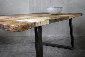 FraaiBerlin Esstisch aus Bauholz & Eisen Lidet 200 x 100 cm