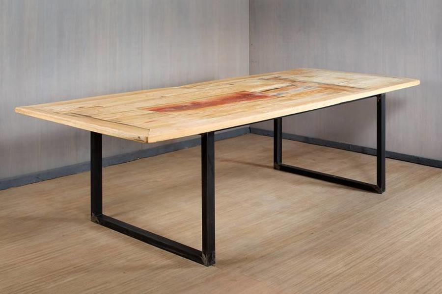FraaiBerlin Esstisch aus Bauholz & Eisen Lorijn 300 x 120cm