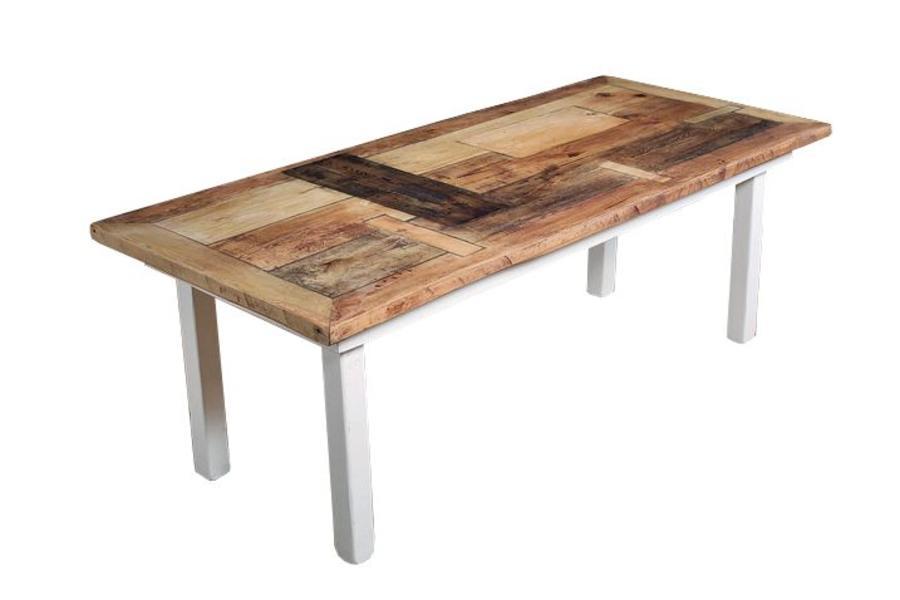 FraaiBerlin Tisch aus Bauholz im Landhausstil Susanne 180 x 96 cm