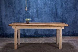 FraaiBerlin Bauholz Tisch Vintage Stil Jasmijn 180x90cm