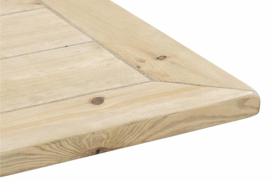 FraaiBerlin Bauholz Tisch Jasmijn mit Arles Eisengestell 200x100cm