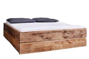FraaiBerlin Bauholz Bett Changy Mittelbraun