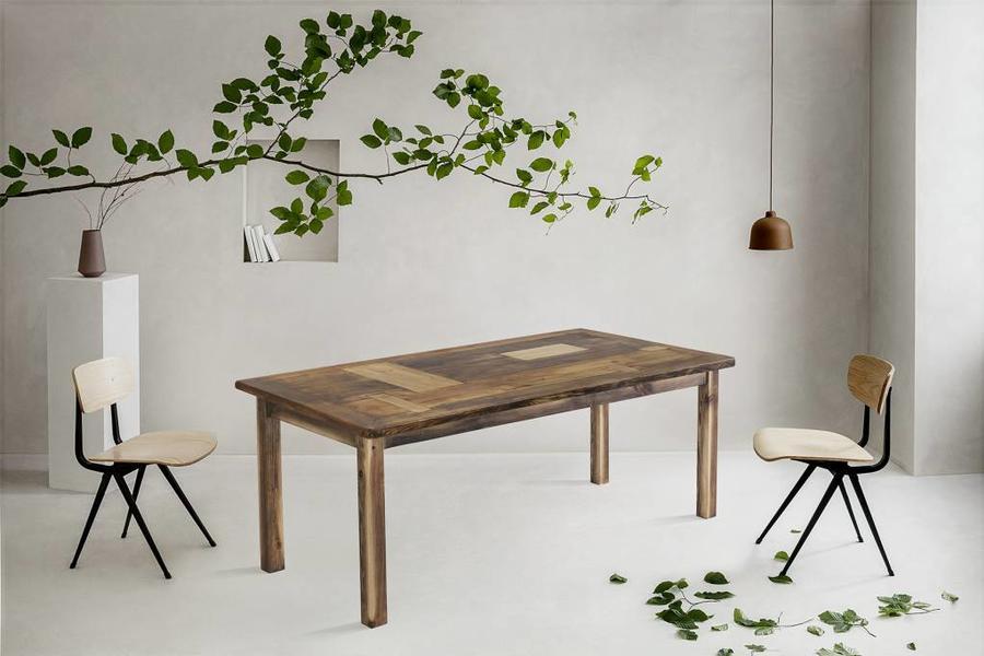 FraaiBerlin Bauholz Tisch Susanne mit Noah Landhausgestell 180x100cm