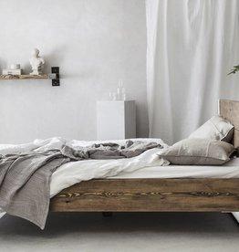 FraaiBerlin Bauholz/Eisen  Bett Verdon pulverbeschichtet weiß