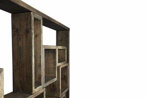 FraaiBerlin Regal im Landhaus-Stil Neiva Braun 200x300x24cm