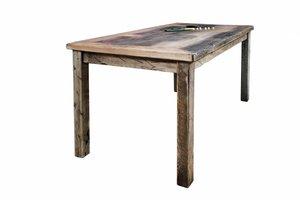 FraaiBerlin Bauholz Tisch Susanne mit Noah Landhausgestell 200x100cm