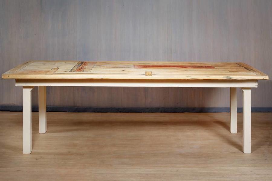 Fraaiberlin Tisch Aus Bauholz Im Landhausstil Susanne 200cm X 100cm