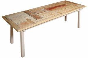 FraaiBerlin Tisch aus Bauholz im Landhausstil Susanne 200x100cm