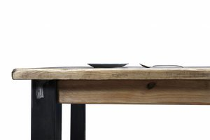 FraaiBerlin Esstisch aus Bauholz & Eisen Arles 240 x 100cm