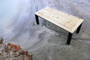 FraaiBerlin Bauholz Tisch Jasmijn mit Arles Eisengestell 220x100cm