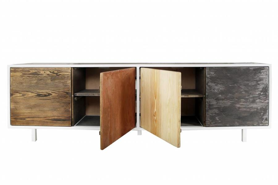 FraaiBerlin Sideboard Malia aus Bauholz & Eisen