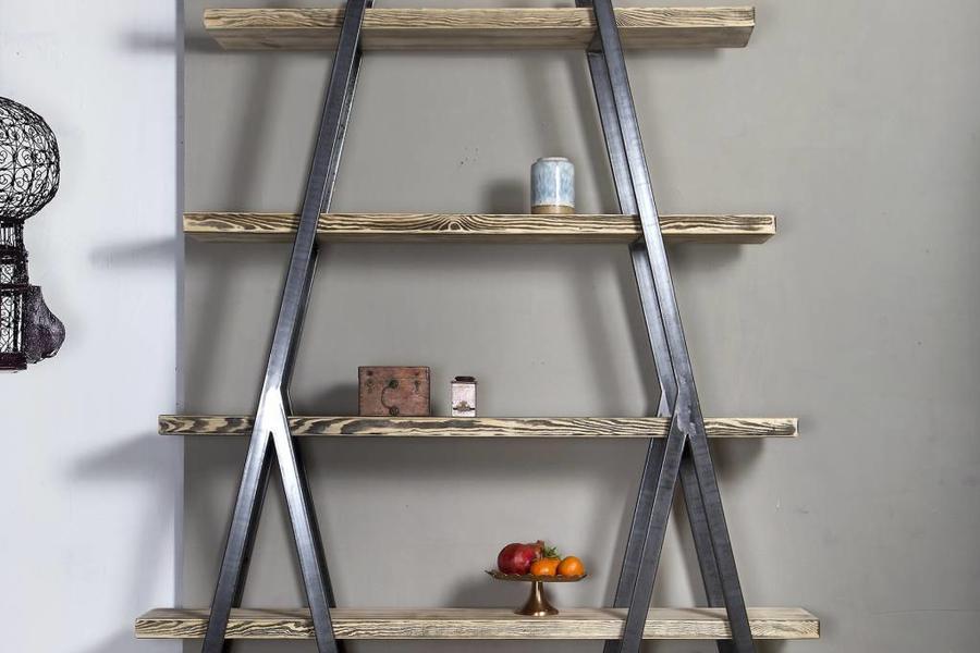 Regal Bauholz/Eisen Alden 180x160x29cm - FraaiBerlin