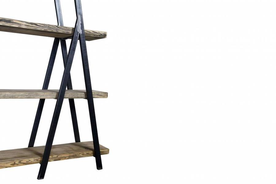 FraaiBerlin Regal Bauholz/Eisen Alden 180x160x29cm