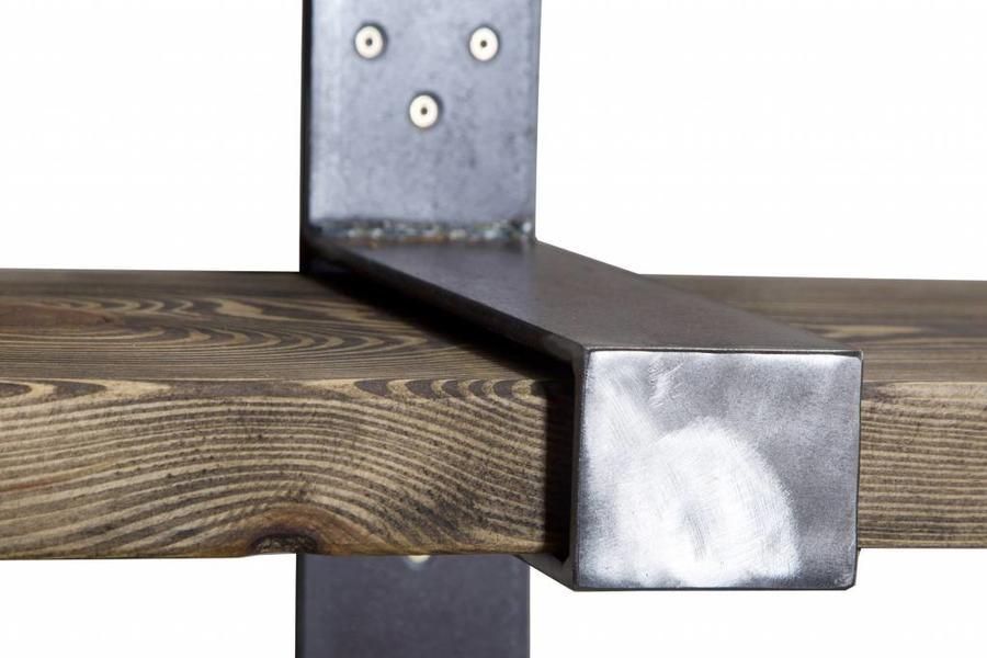 FraaiBerlin Regal Bauholz/Eisen Joana 200x25cm