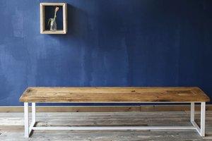 FraaiBerlin Bank Industrial Stil & Eisen Rachel pulverbeschichtet weiß 200x40cm