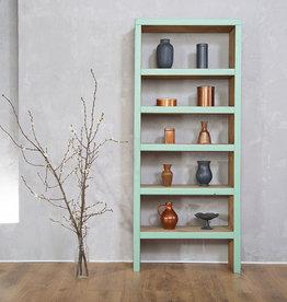 FraaiBerlin Bücherregal Bauholz Theresa  Mintgrün 165x70x25cm