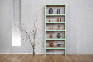FraaiBerlin Bücherregal Bauholz Theresa  Mintgrün