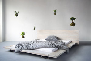 FraaiBerlin Bauholz Bett Cudos White Wash