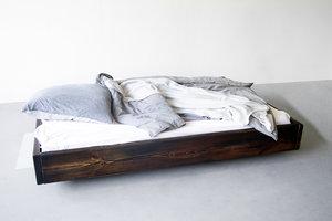 FraaiBerlin Bauholz Bett Lussan dunkel