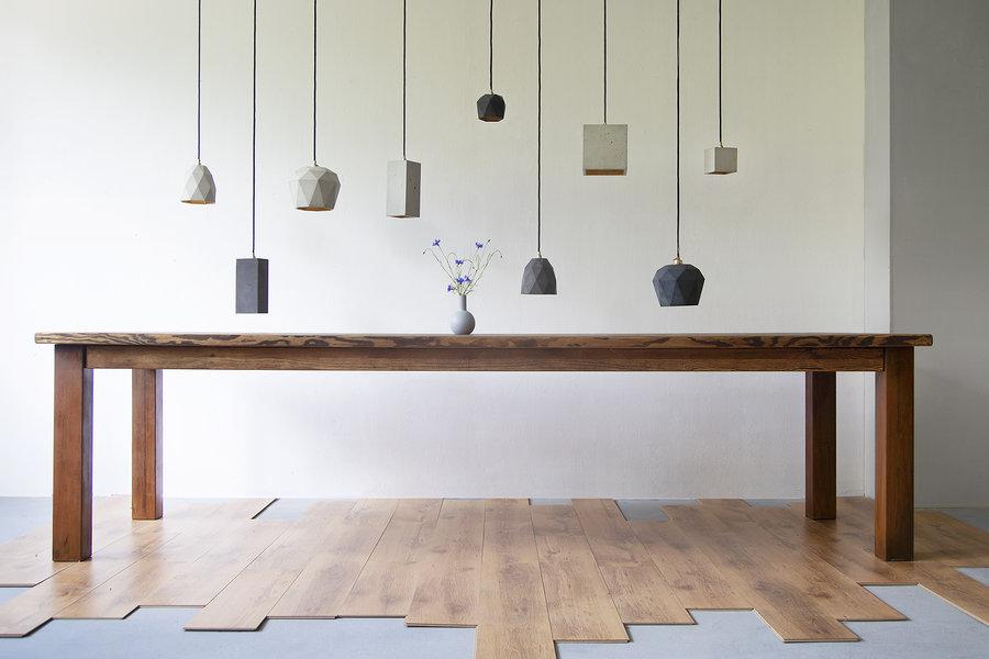 FraaiBerlin Esstisch aus Bauholz & Eisen Arles Rostbeschichtung 300 x 100cm