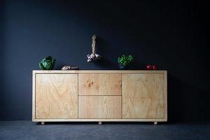 FraaiBerlin Kommode im Landhausstil Luan aus Bauholz
