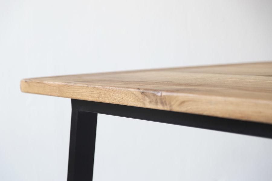 FraaiBerlin Esstisch aus Altholz Eiche Jasmijn/Aleida 200x100cm schwarz