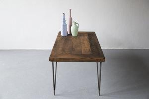 FraaiBerlin Couchtisch aus Bauholz und Eisen Jasmijn/Hairpin 100x55x50cm