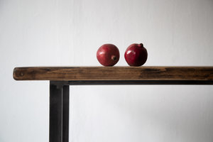 FraaiBerlin Couchtisch aus Bauholz und Eisen Jasmijn/Dagmar 110x55x50cm