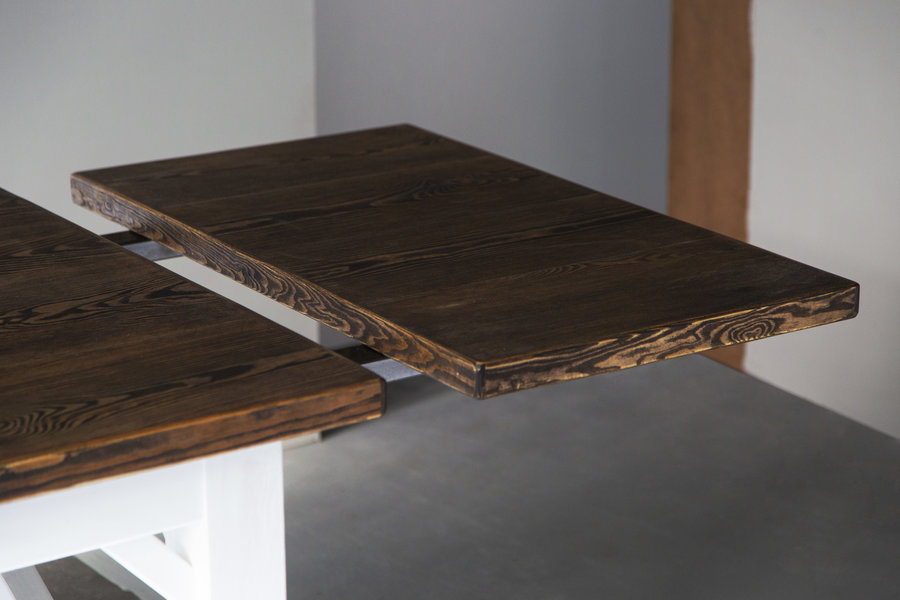 FraaiBerlin Landhaus Tisch Loren/Liv mit Ansteckplatten