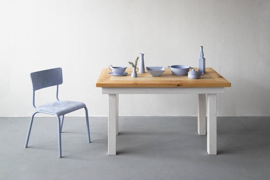 FraaiBerlin Bauhholz Kiefer Tisch Jasmijn/Daan 130x80cm