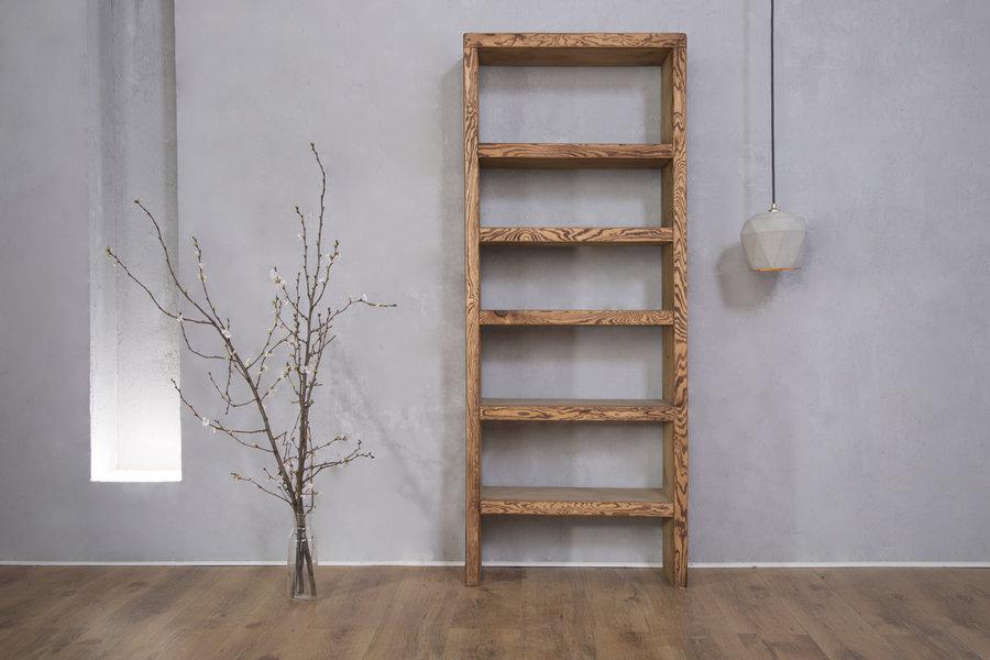 FraaiBerlin Bücherregal Bauholz Theresa Braun 165x70x25cm